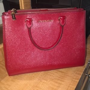 BRAND NEW Michael Kors red tote